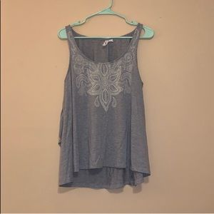 Tops - Gray tank top with keyhole back
